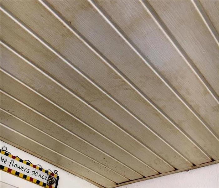 Cleaning Pensacola Nicotine Stained Ceiling  Before