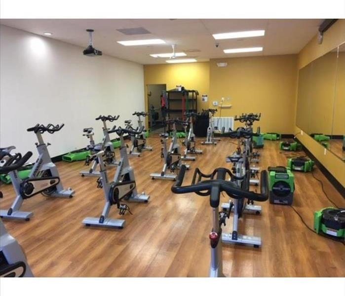 Flooded Fitness Center in Northeast Pensacola, FL After