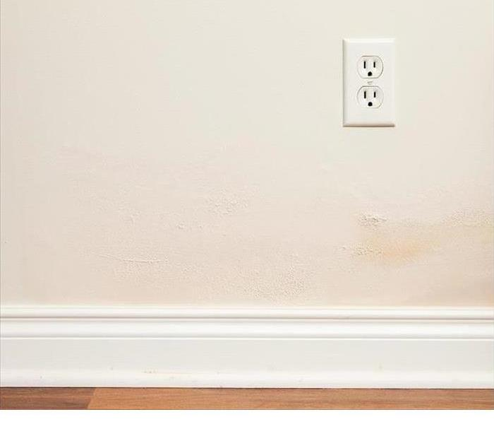 Water Damage Below an Electrical Outlet